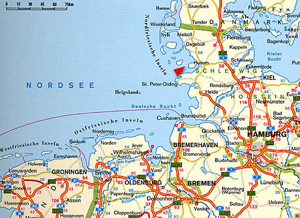 overview of all frisian islands
